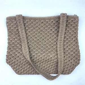 The Sak Crochet Hobo Shoulder Bag Knit